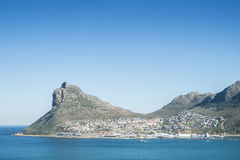 Bay of a city by the sea in cape town Stock Photos