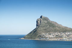 Bay of a city by the sea in cape town Royalty Free Stock Photo
