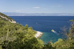 Bay on the coast of Croatia. Picturesque bay on the Adriatic royalty free stock images