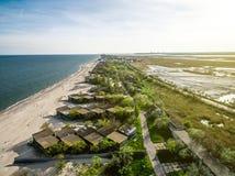 Bay coastline in Odessa region, Ukraine. View on Bay coastline in Odessa region, Ukraine, aerial photo Stock Photos