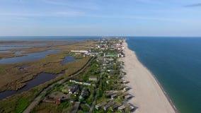 Bay coastline in Odessa region, Ukraine stock video