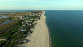 Bay coastline in Odessa region, Ukraine stock footage