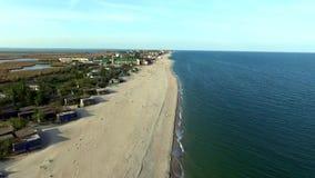 Bay coastline in Odessa region, Ukraine stock video footage