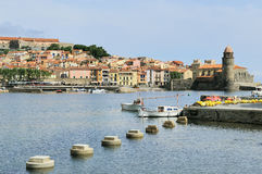 Bay of Collioure Royalty Free Stock Photo