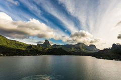 Bay from Cook Islands Moorea Stock Photography
