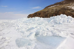 Bay covered by ice Stock Photography