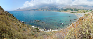 Bay in Crete. Plakias bay in Grece island Crete Royalty Free Stock Photos