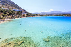 The bay of Crete. Greece. Sea view of the bay in Crete island. Greece Stock Images