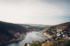 Bay. Crimea. amazing place in russia Royalty Free Stock Photography