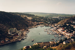 Bay. Crimea. amazing place in russia Stock Photos