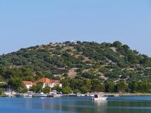 The bay of the Croatian village Betina Royalty Free Stock Image
