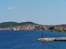 The bay of the Croatian village Murter Stock Photo