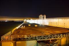 Bay dam at night Royalty Free Stock Image