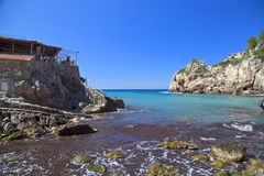 Bay of Deia. With turquoise sea on the Spanish island of Mallorca Stock Images