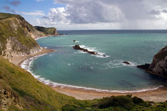 Bay at Durdle Door. Looking towards Lulworth Cove Stock Photography