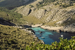 Bay El Maressar. In Majorca, Spain Royalty Free Stock Image