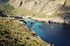 Bay El Maressar. In Majorca, Spain Stock Photo