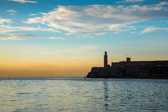 Bay with El Morro castle in Havana, Cuba Stock Images