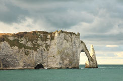 Bay of etretat, normandy Stock Images
