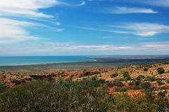 The Bay of Exmouth. Yardie Creek Gorge in the Cape Range National Park, Ningalo Royalty Free Stock Image