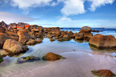 Bay of Fires. Scenic rocky seasape at Bay of Fires in Tasmania Stock Images