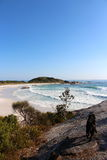Bay of Fires beautiful day taking the dog out Royalty Free Stock Images