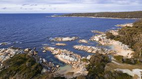 Bay Of Fires in Binalong Bay. Tasmania Royalty Free Stock Photos