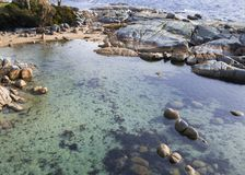 Bay Of Fires in Binalong Bay. Tasmania Royalty Free Stock Image