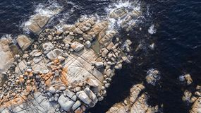 Bay Of Fires in Binalong Bay. Tasmania Royalty Free Stock Photography