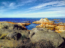 Bay of Fires Rocks in Tasmania Stock Photo