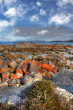 Bay of Fires, Tasmania. Scenic rocky seasape at Bay of Fires in Tasmania royalty free stock image