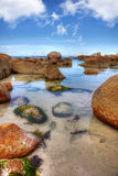 Bay of Fires, Tasmania. Scenic rocky seasape at Bay of Fires in Tasmania stock image