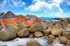 Bay of Fires, Tasmania. Scenic rocky seasape at Bay of Fires in Tasmania Stock Photography