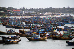 Bay of fishing boats in Vietnam Royalty Free Stock Photos