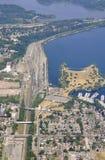 Bay front Park Hamilton, aerial Royalty Free Stock Photos