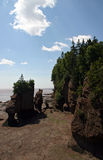 Bay of Fundy. At low tide Royalty Free Stock Photos