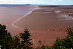 Bay of Fundy - Extreme Tides 2. The extreme ebb and flow of the tides in the Bay of Fundy, New Brunswick, Canada Royalty Free Stock Photo