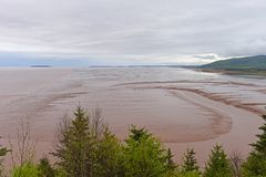 Bay of Fundy in low tide, New Brunswick, Canada Stock Photos