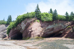 Bay of Fundy. National Park that has one of the biggest tides in the world (New Brunswick, Canada stock image