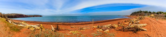 Bay of Fundy, Nova Scotia, Canada. The highest tide in the world royalty free stock photos