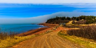 Bay of Fundy, Nova Scotia, Canada. The highest tide in the world royalty free stock image