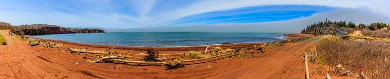 Bay of Fundy, Nova Scotia, Canada. The highest tide in the world stock images