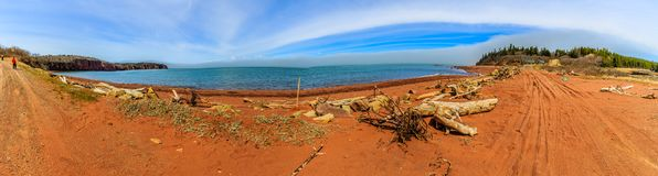 Bay of Fundy, Nova Scotia, Canada. The highest tide in the world royalty free stock photo