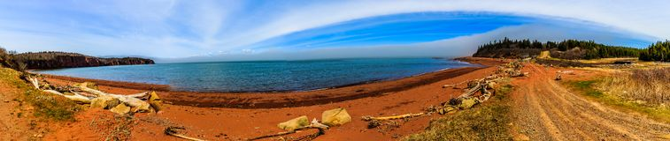 Bay of Fundy, Nova Scotia, Canada. The highest tide in the world stock photography