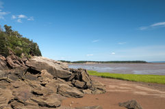 Bay of Fundy Red Soil Royalty Free Stock Images