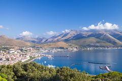 Bay of Gaeta commune, Italy. Summer morning Stock Photo