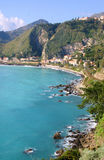 Bay of Giardini Naxos in Sicily Royalty Free Stock Photos