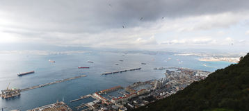 Bay of Gibraltar - Harbor Royalty Free Stock Photo
