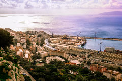 Bay of Gibraltar and Town Stock Photography