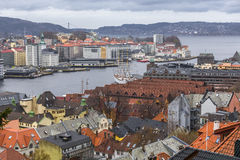 Bay and harbor in Bergen Royalty Free Stock Photo